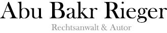 Abu Bakr Rieger | Islam, Finanztechnik, Recht & Philosophie