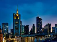 Panorama Frankfurt Germany Skyline Urban City